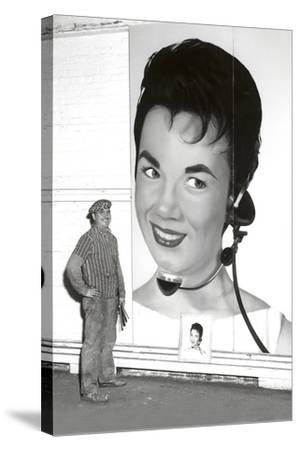 Large Format Portrait, Switchboard Operator--Stretched Canvas Print