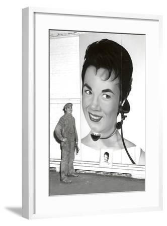 Large Format Portrait, Switchboard Operator--Framed Art Print