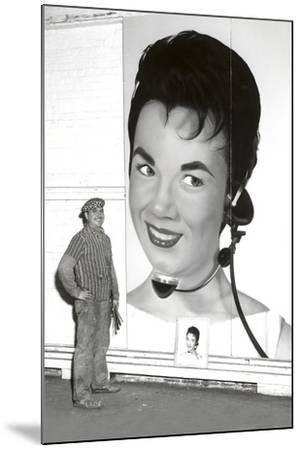 Large Format Portrait, Switchboard Operator--Mounted Art Print