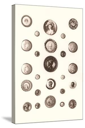 Button Collection--Stretched Canvas Print