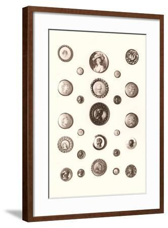 Button Collection--Framed Art Print