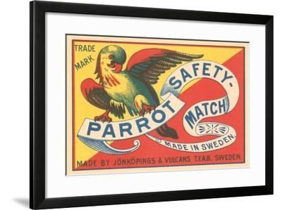 Match Box with Parrot--Framed Art Print