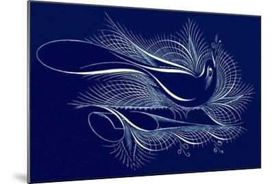 Tughra Bird in Blue--Mounted Art Print