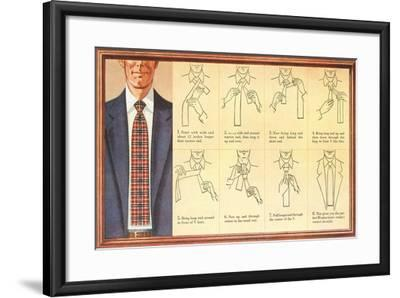 How to Tie a Four-In-Hand Knot--Framed Art Print