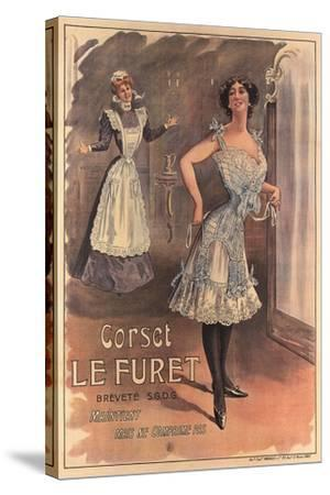 Le Furet Wasp-Waist Corset--Stretched Canvas Print