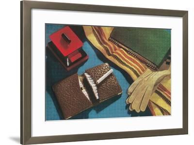 Leather Cigarette Case--Framed Art Print
