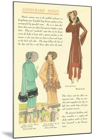 Longchamp Notes--Mounted Art Print