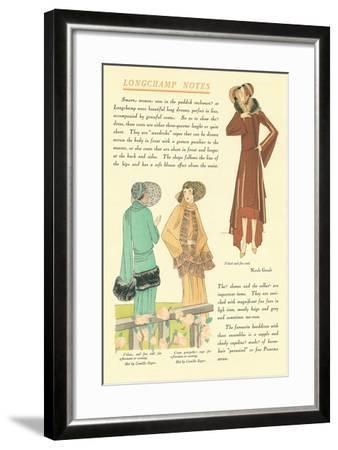 Longchamp Notes--Framed Art Print