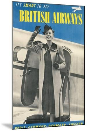 British Airways Travel Poster--Mounted Art Print