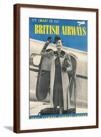 British Airways Travel Poster--Framed Art Print