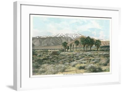 Mt. San Jacinto from Whitewater--Framed Art Print