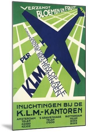 Klm Travel Poster--Mounted Art Print