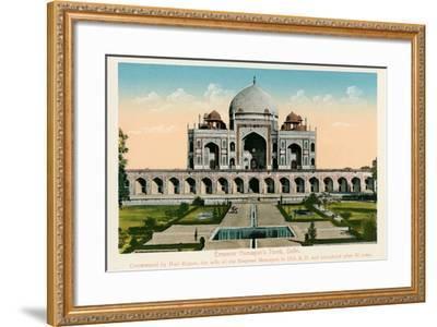 Tomb of Emperor Humayun--Framed Art Print