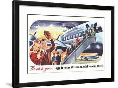 The Air Is Yours--Framed Art Print