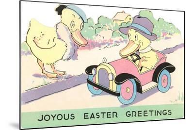 Joyous Easter Greetings, Ducks--Mounted Art Print