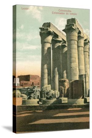 Columns at Luxor--Stretched Canvas Print