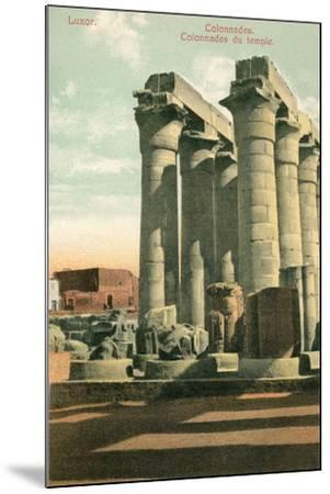 Columns at Luxor--Mounted Art Print
