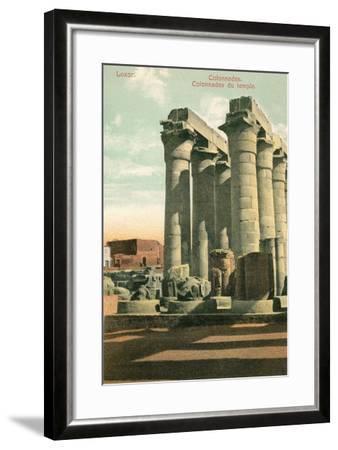 Columns at Luxor--Framed Art Print