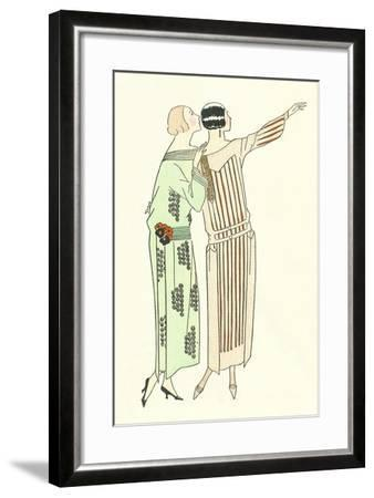 Vintage Fashion Illustration--Framed Art Print