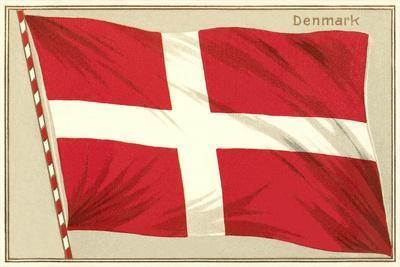 Flag of Denmark--Framed Art Print