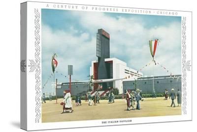 Italian Pavilion, Chicago World Fair--Stretched Canvas Print