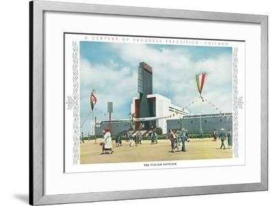 Italian Pavilion, Chicago World Fair--Framed Art Print