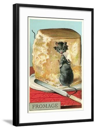 Fromage, Mice in Cheese--Framed Art Print
