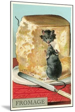 Fromage, Mice in Cheese--Mounted Art Print