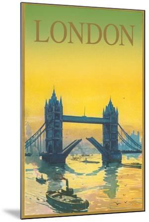 Travel Poster for London--Mounted Art Print