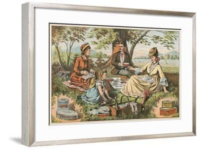Old Fashioned Picnic--Framed Art Print