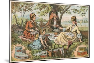 Old Fashioned Picnic--Mounted Art Print