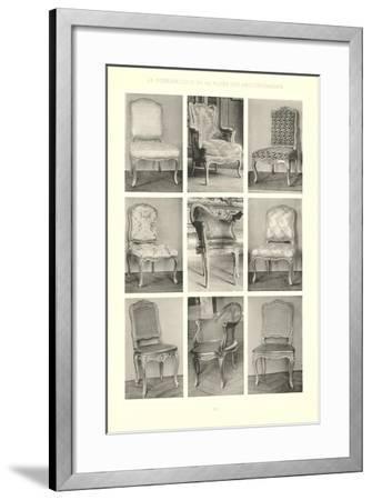 Nine Louis XV Chairs--Framed Art Print