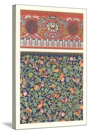 Oriental Floral Patterns--Stretched Canvas Print