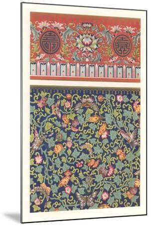 Oriental Floral Patterns--Mounted Art Print