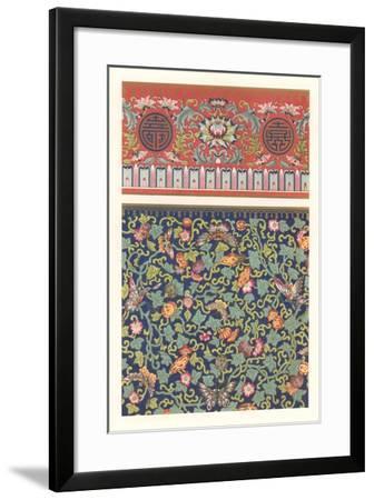 Oriental Floral Patterns--Framed Art Print