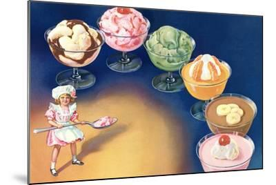 Puddings and Ice Cream--Mounted Art Print