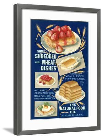 Shredded Wheat Dishes--Framed Art Print