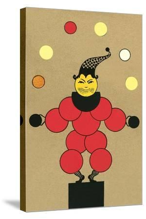 Clown Made of Circles--Stretched Canvas Print