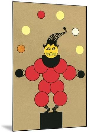 Clown Made of Circles--Mounted Art Print