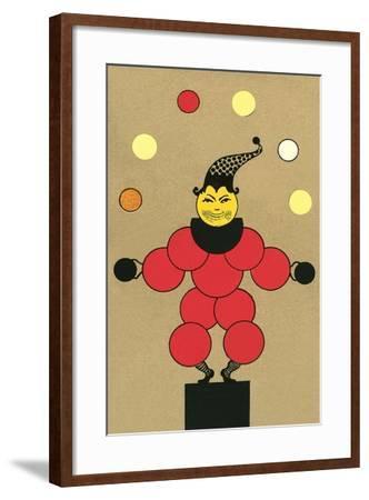 Clown Made of Circles--Framed Art Print