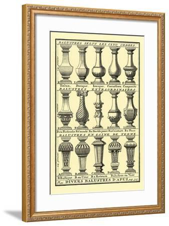 Variety of Balustrades--Framed Art Print