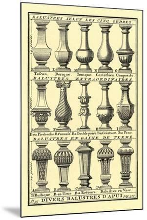 Variety of Balustrades--Mounted Art Print