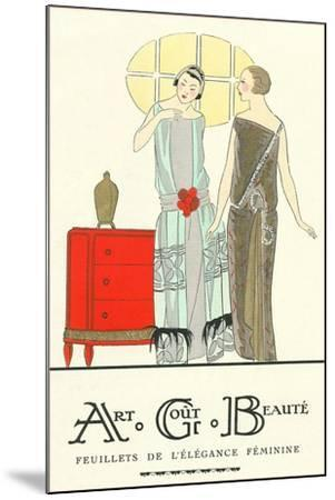 AGB French Fashion Illustration--Mounted Art Print