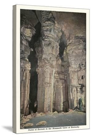 Mammoth Cave, Ruins of Karnak--Stretched Canvas Print