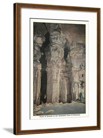 Mammoth Cave, Ruins of Karnak--Framed Art Print