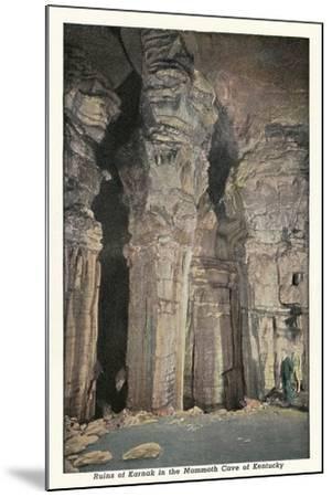 Mammoth Cave, Ruins of Karnak--Mounted Art Print