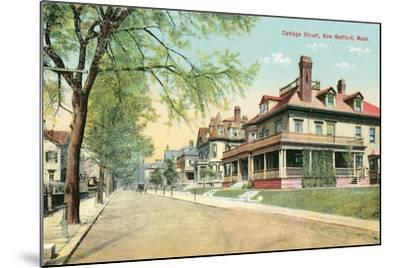 Cottage Street, New Bedford--Mounted Art Print