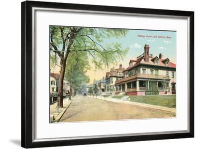 Cottage Street, New Bedford--Framed Art Print