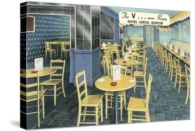 The V Room, Cocktail Lounge--Stretched Canvas Print