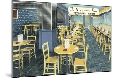 The V Room, Cocktail Lounge--Mounted Art Print